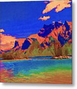 Complementary Mountains Metal Print