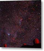 Composite Image Of Halley's Comet & Mauna Kea Metal Print