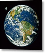 Composite Image Of Whole Earth Blue Metal Print
