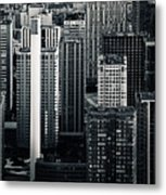Compressed Architecture Metal Print