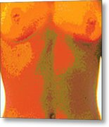 Computer Abstract Of Woman's Torso, Front View Metal Print