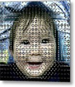 Computer Analysis Of A Smile On A Baby's Face Metal Print by Institute For Neural Computation, University Of California