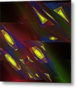 Computer Generated Triangles Abstract Fractal Flame Abstract Art Metal Print