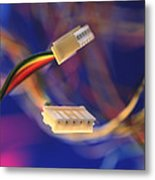 Computer Power Cables Metal Print