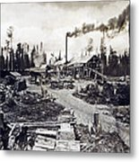 Concord New Hampshire - Logging Camp - C 1925 Metal Print by International  Images