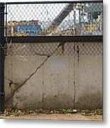Concrete And Rusty Fence Metal Print