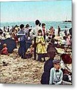 Coney Island: Beach, C1902 Metal Print