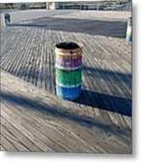 Coney Island Boardwalk Metal Print
