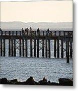 Coney Island Pier Metal Print