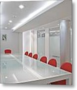 Conference Room Metal Print by Setsiri Silapasuwanchai