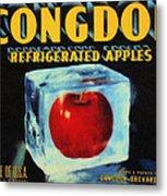 Congdon Refrigerated Apples Metal Print