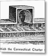 Connecticut: Charter Box Metal Print