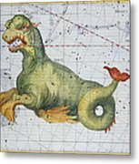 Constellation Of Cetus The Whale Metal Print