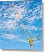 Construction Crane Metal Print