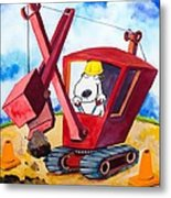 Construction Dogs 2 Metal Print