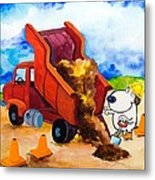 Construction Dogs 4 Metal Print by Scott Nelson