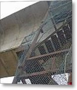 Construction Work For The Delhi Metro Along With Safety Net Metal Print