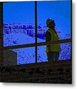 Construction Worker Metal Print