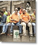 Construction Workers One World Trade Center Metal Print