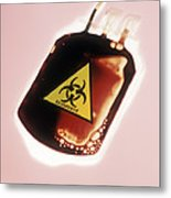 Contaminated Blood Metal Print