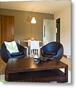 Contemporary Living Room Furniture Metal Print by Inti St. Clair