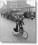 Contented Police Dog Metal Print by Hans Meyer