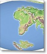 Continental Drift After 100 Million Years Metal Print