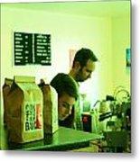 Contraband Coffee Metal Print