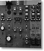 Control Panels Of The Detroit Edison Metal Print