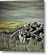 Controlled Burn Metal Print