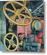 Controls Metal Print by Sharon Lisa Clarke