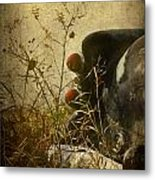 Conversation Dirt Road Metal Print by Empty Wall