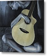 Conversation With A Painting Metal Print