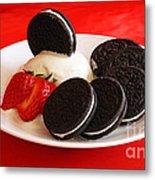 Cookies N Cream Metal Print