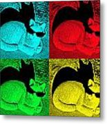 Cool Cat Pop Art Metal Print