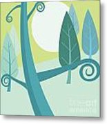 Cool Forest Metal Print