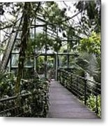Cool House Inside The National Orchid Garden In Singapore Metal Print
