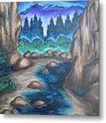 Cool Mountain Water Metal Print