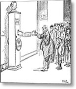 Coolidge Cartoon, 1925 Metal Print