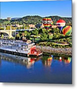 Coolidge Park During River Rocks Metal Print