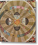 Copernican World System, 17th Century Metal Print
