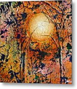 Copper Moon Metal Print