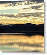 Copper Sky And Reflections Metal Print