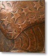 Copper Stars Metal Print