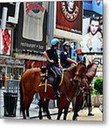 Cops In Manhattan Metal Print