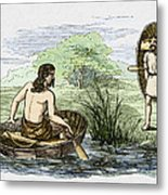 Coracle Boats Of The Ancient Britons Metal Print