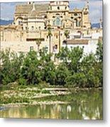 Cordoba Cathedral And Guadalquivir River Metal Print