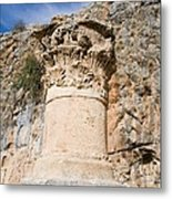 Corinthian Capital Metal Print by Photostock-israel