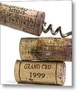 Cork Of French Wine Metal Print by Bernard Jaubert