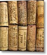 Corks Of Fench Vine Of Bordeaux Metal Print